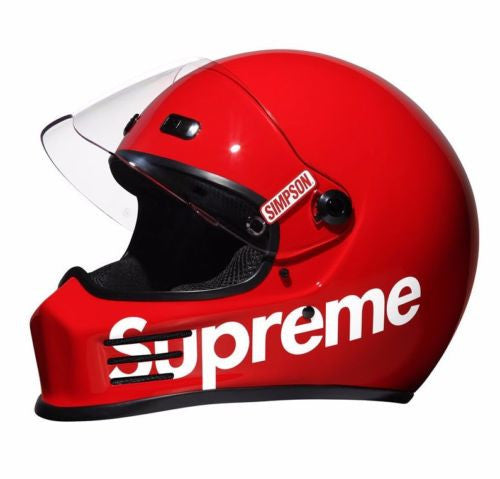"Size LARGE Supreme Simpson Street Bandit ""RED"" Helmet"