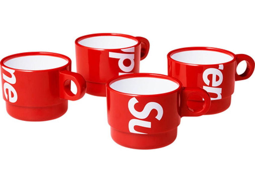 Supreme Stacking Cups (Set of 4) Red