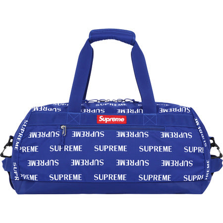 "SUPREME 3M REFLECTIVE REPEAT ""BLUE"" DUFFLE BAG FW16"