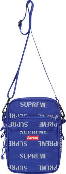 "SUPREME 3M REFLECTIVE REPEAT ""BLUE"" SHOULDER BAG FW15"