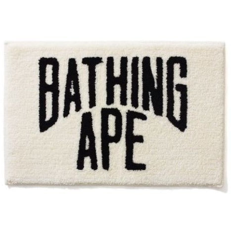 A Bathing Ape WHITE NYC Logo Rug Mat