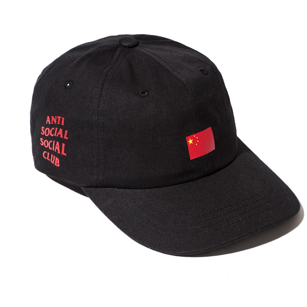"Antisocial Social Club ""black hat w/ china flag"""