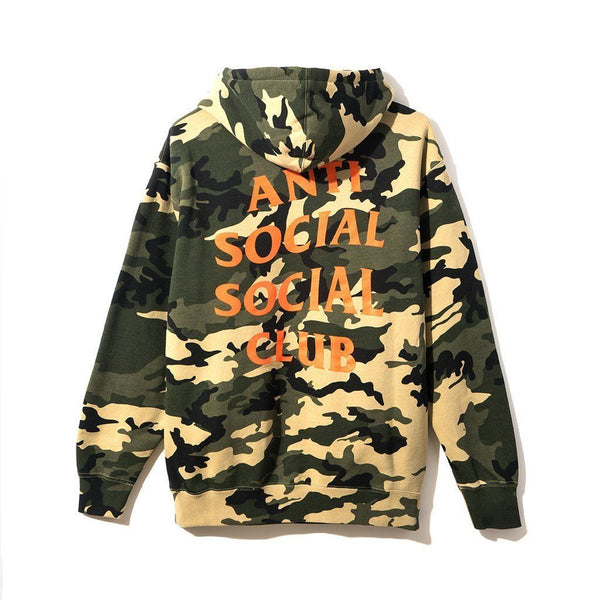 "ANTI SOCIAL SOCIAL CLUB ""GREEN ORANGE"" CAMO HOODIE"