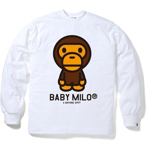 A BATHING APE BABY MILO LONG SLEEVE TEE