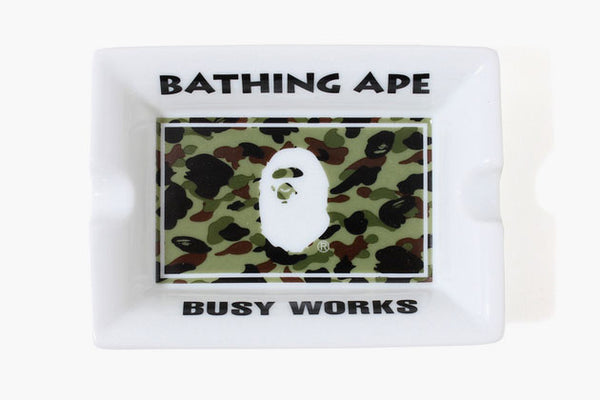 A BATHING APE BAPE BUSY WORKS 1ST CAMO ASHTRAY