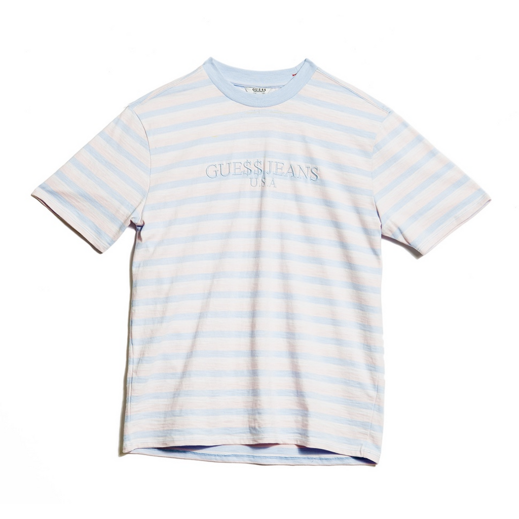 "GUESS x ASAP ROCKY DAVID REACTIVE 3 STRIPED TEE ""COTTON CANDY"""