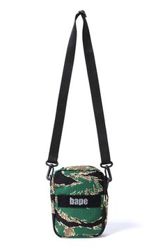 A BATHING APE BAPE TIGER CAMO SHOULDER BAG