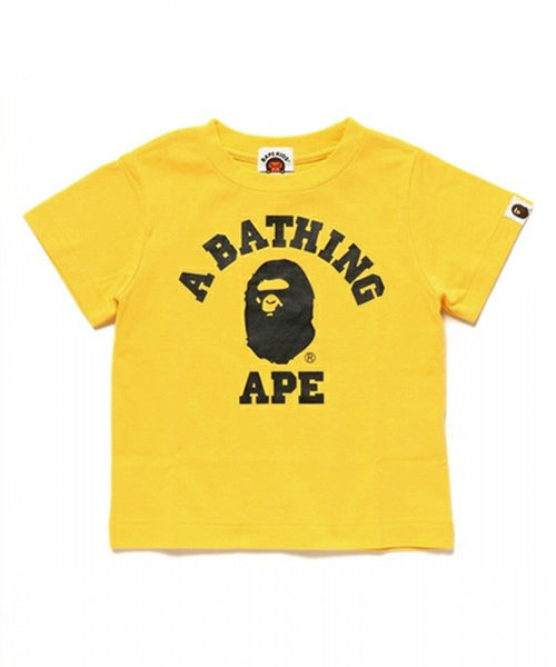 "A BATHING APE BAPE KIDS ""YELLOW"" COLLEGE TEE SHIRT"