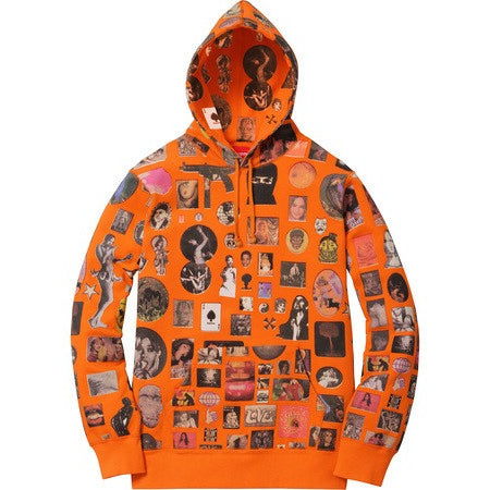 "Supreme Thrills Hooded "" Orange"" Sweatshirt"