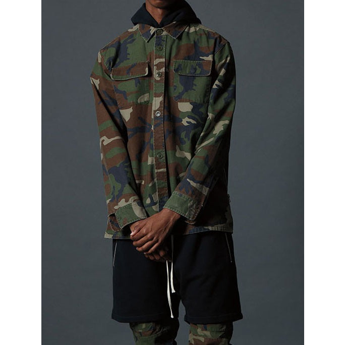 Fear of God FOG x Pacsun Plaid Camouflage Shacket