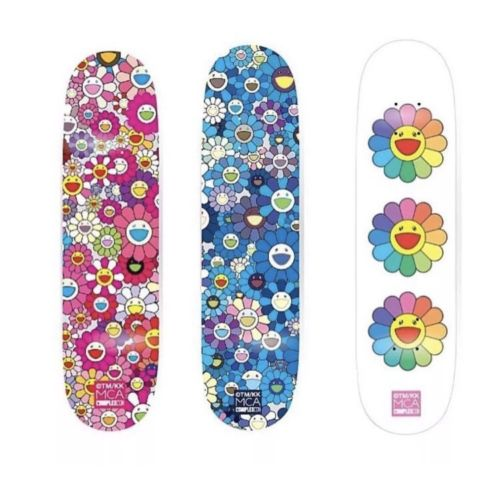 "Takashi Murakami x ComplexCon ""Multi Flower"" Skate Deck - SET OF 3"