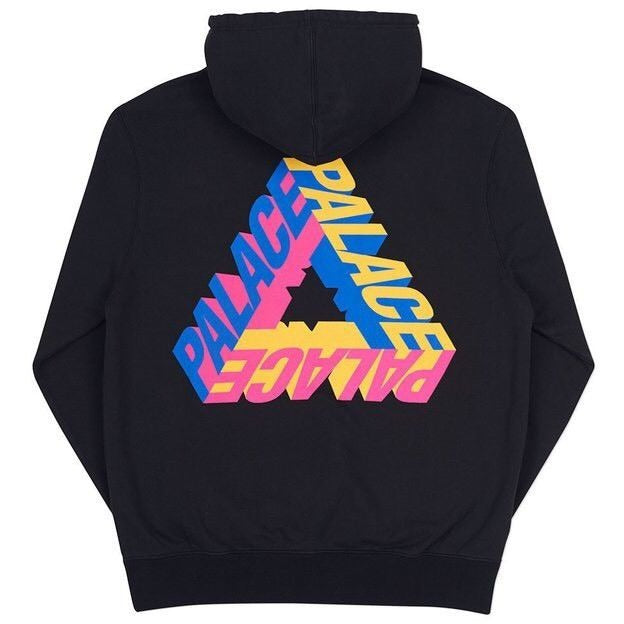 Palace Skateboards P-3D Hooded Black Sweater