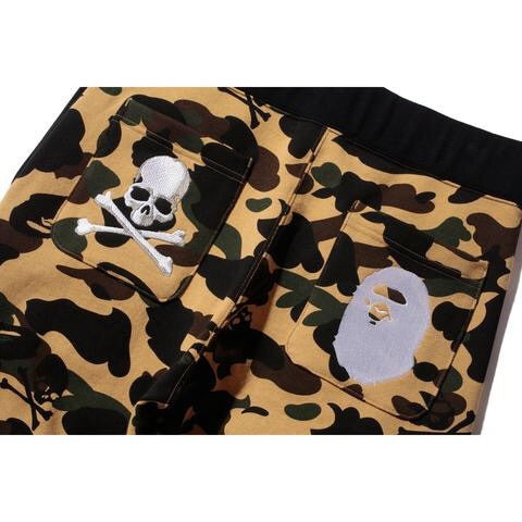 BAPE X MASTERMIND SWEATPANTS 'YELLOW' CAMOUFLAGE
