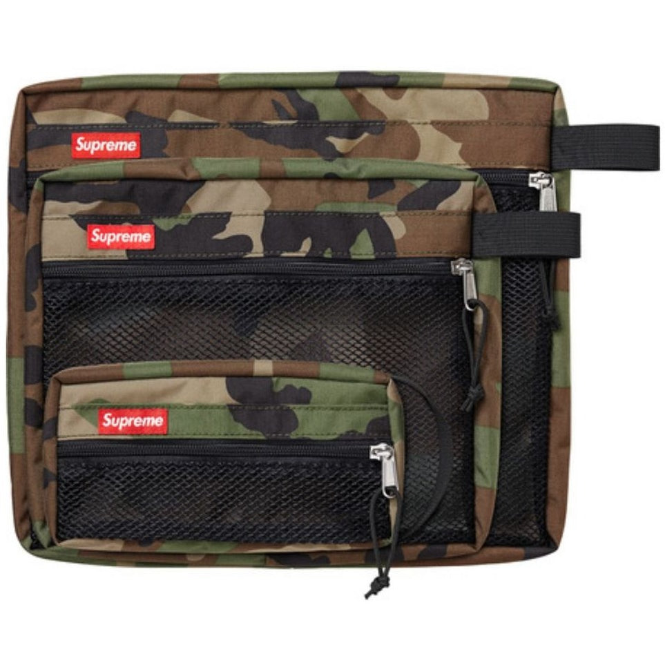 "SUPREME FW16B MESH ORGANIZER ""CAMO"" BAG (SET OF 3)"