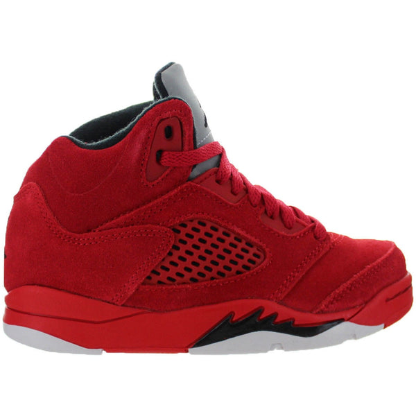"2017 Air Jordan V Retro ""Red Suede"" PRESCHOOL (440889-602)"