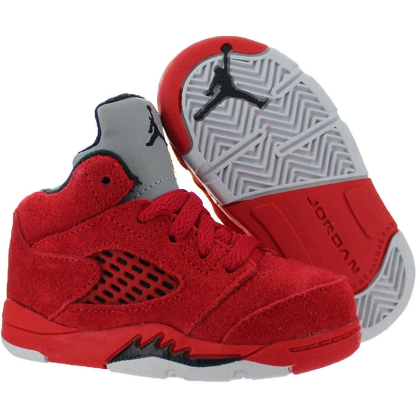 "2017 Air Jordan V Retro ""Red Suede"" TODDLER (440890-602)"