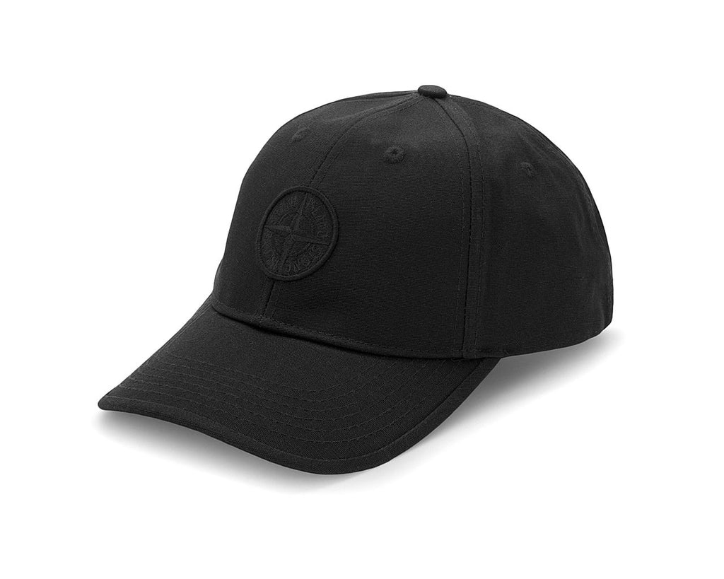 "STONE ISLAND ""BLACK"" COTTON REPS CAP"
