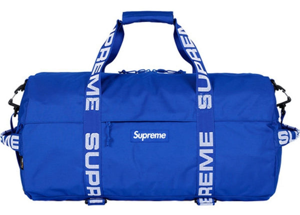 "SUPREME SS18 SMALL ""ROYAL BLUE"" CORDURA DUFFLE BAG"