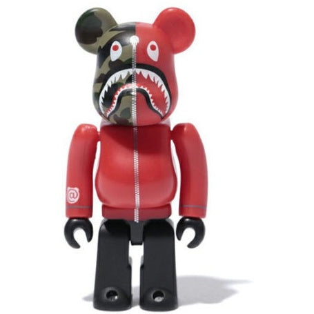 "BAPE BE@RBRICK 1ST CAMO SHARK ""RED"" 400%"