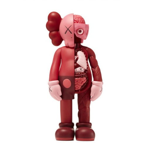 "KAWS COMPANION BLUSH RED ""FLAYED"" OPEN EDITION"
