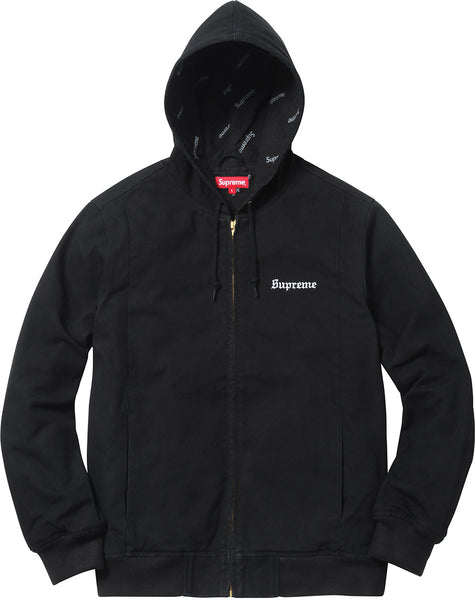 SUPREME 2-TONE HOODED WORK JACKET