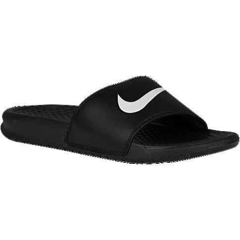 "MEN'S NIKE BENASSI SLIDE ""BLACK WHITE"" (312618-011)"