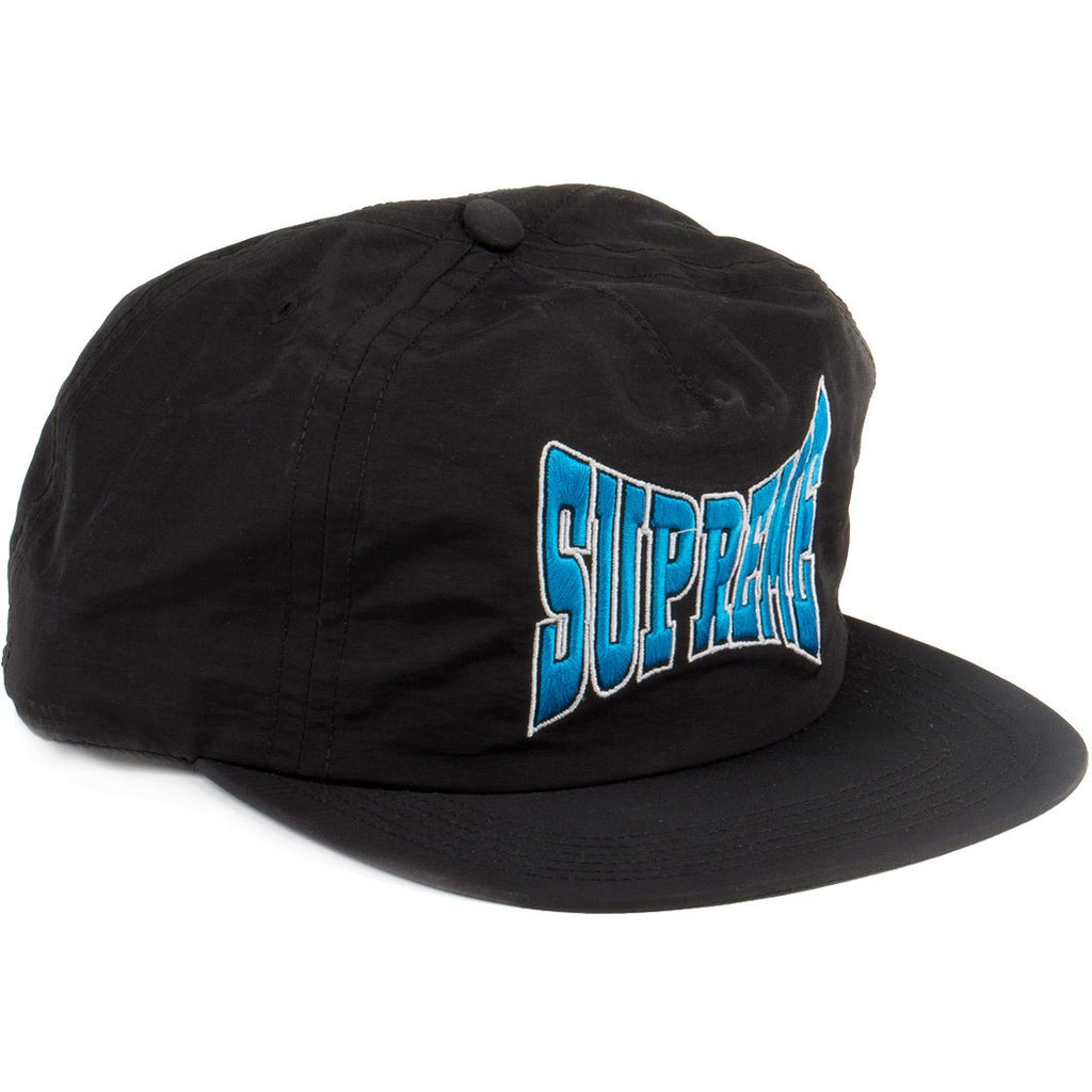 Supreme Nylon Logo SnapBack 5-Panel Hat Black/Blue