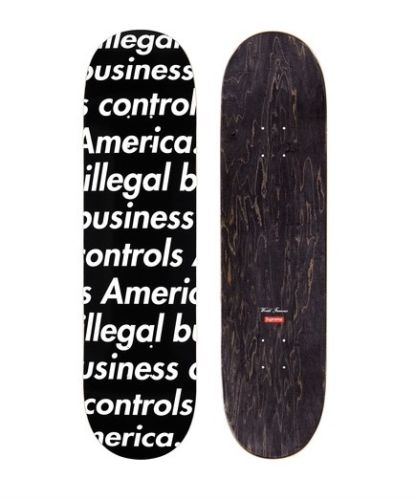"Supreme ""Black"" Illegal Business Skateboard"