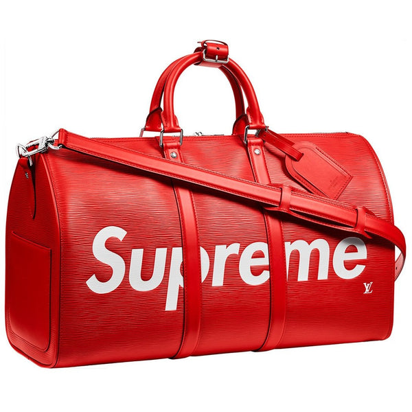 "SUPREME X LOUIS VUITTON ""RED DUFFEL BAG"