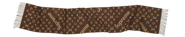 "SUPREME X LOUIS VUITTON ""BROWN"" Monogram Scarf"