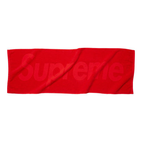 "Supreme ""RED"" Terry Logo Hand Towel"