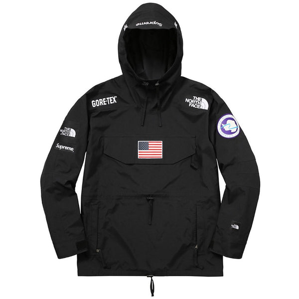 "Supreme x The North Face Gore-Tex ""BLACK"" Pullover Jacket SS17"