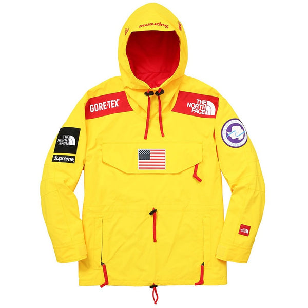 "Supreme x The North Face Gore-Tex ""YELLOW"" Pullover Jacket SS17"