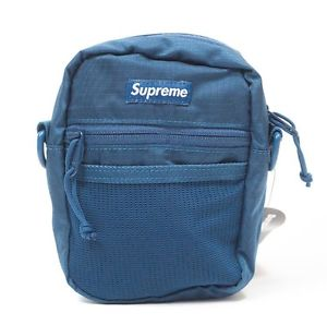 "SUPREME CORDURA BOX LOGO SMALL ""TEAL"" SHOULDER BAG SS17"