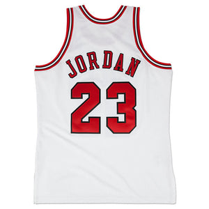 "MITCHELL AND NESS MICHAEL JORDAN 1995-96 Authentic ""HOME WHITE"" Jersey CHICAGO BULLS"