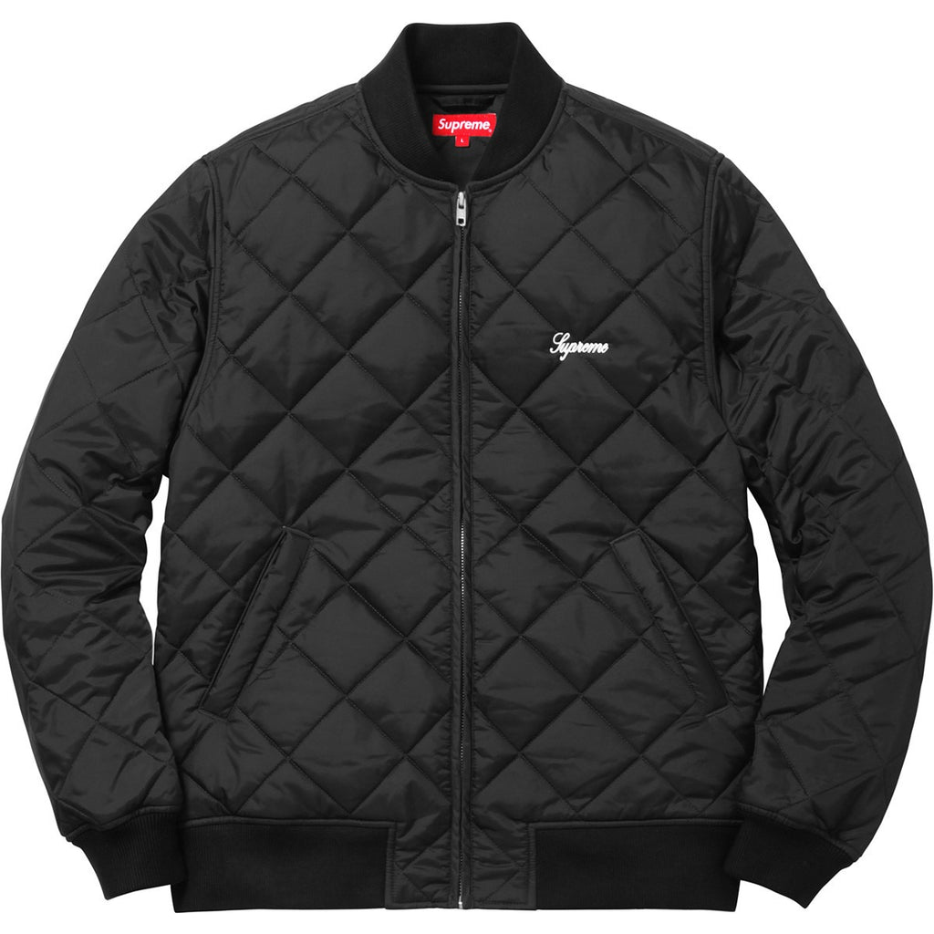 Supreme 'Black' Sequin Quilted Patch Jacket