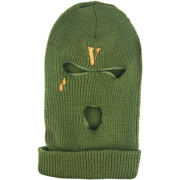 "VLONE ""OLIVE"" EMBROIDERED SKI MASK"