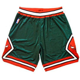 "MITCHELL & NESS NBA CHICAGO BULLS ""JEFFERSONS EXCLUSIVE"" SHORTS"