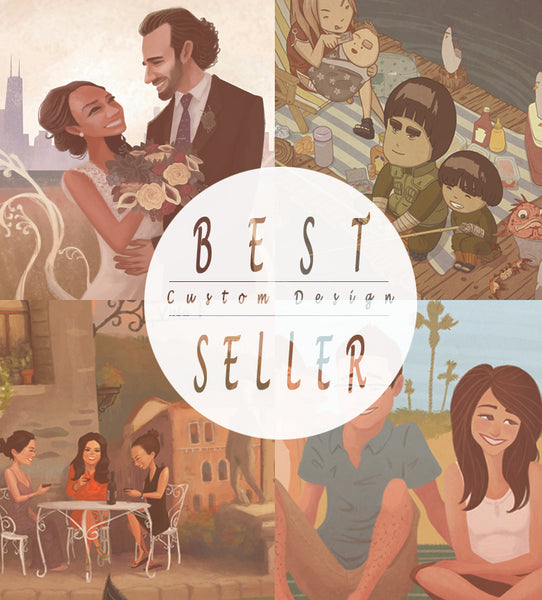 Best Seller: Custom Design Illustration