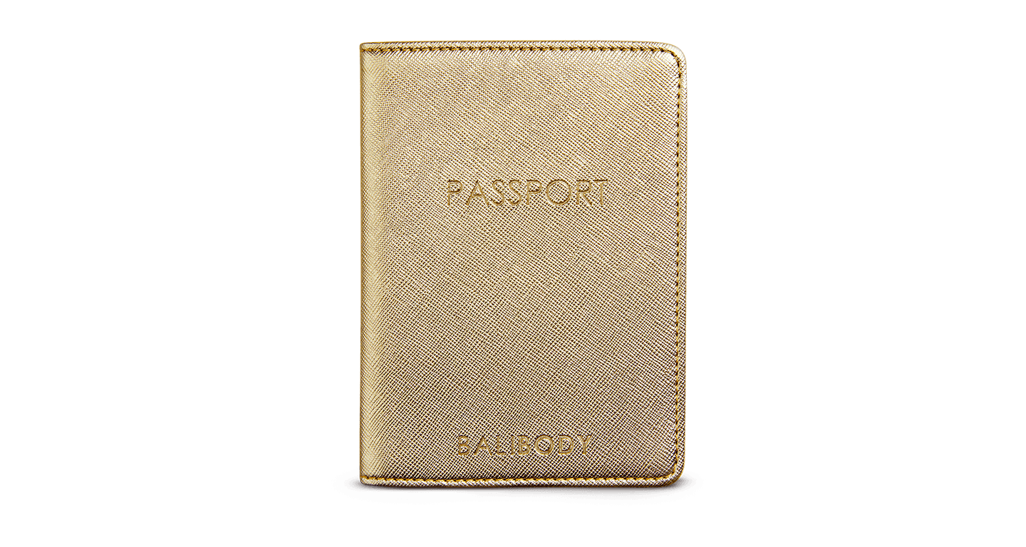Bali Body Passport Holder Gold