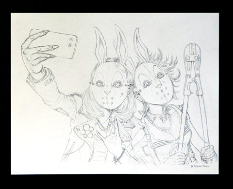 BUNNY MASKED PENCILS