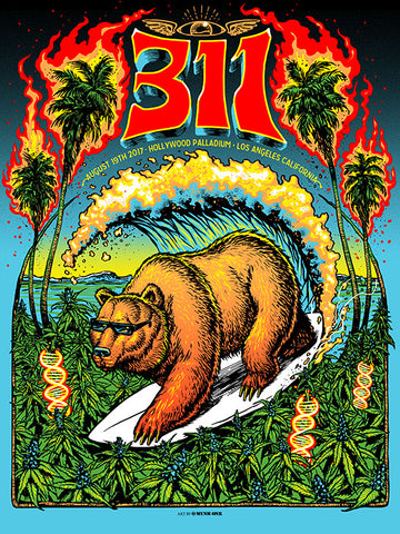 311 Red Rocks Crackle Foil