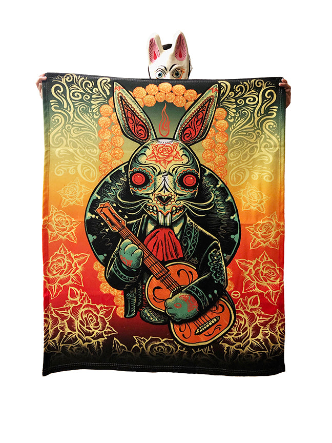 L.A. Bunny Fabric Throw
