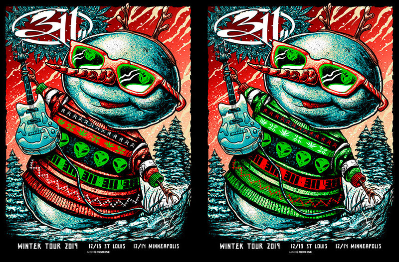311 Winter Tour Red & Green Winter Tour UNCUT AP