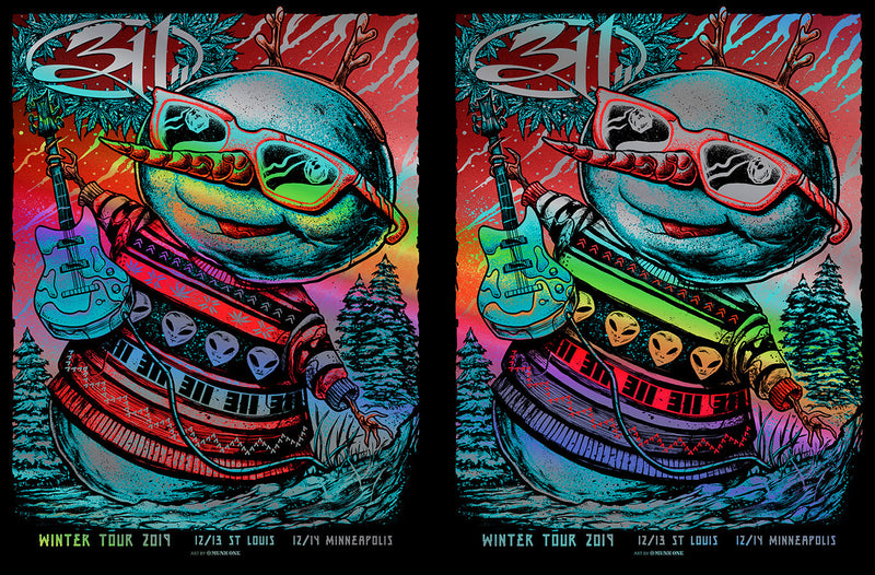 311 Winter Tour Rainbow Foil Winter Tour UNCUT AP