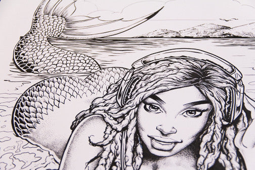 Mermaid Beach Girl Inks