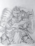 Robot Warrior Pencils