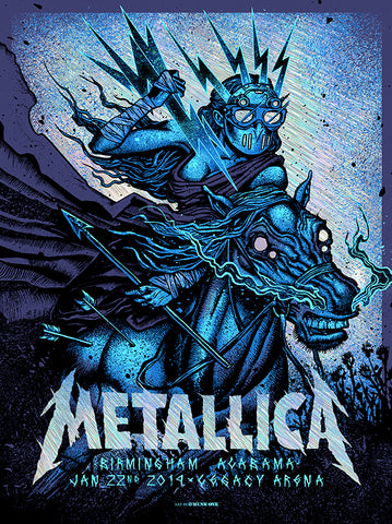 Metallica London Night1 Red Foil AP