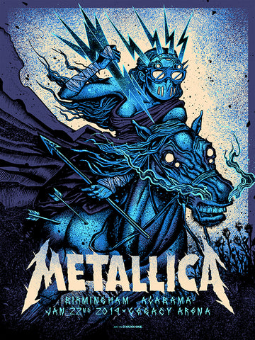 Metallica Boise Red Foil