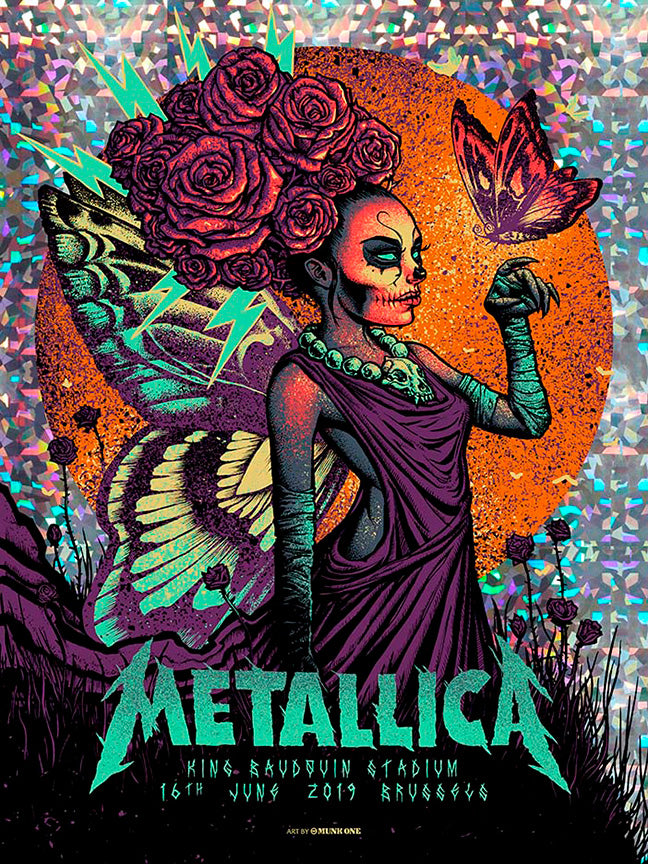 Metallica Brussels Speckle Foil AP